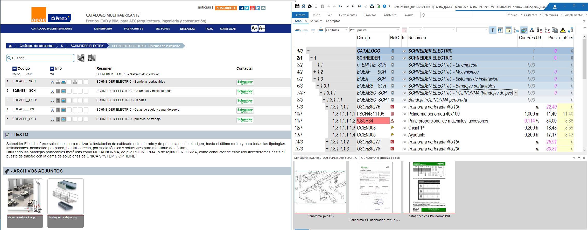 Webinar: El Catálogo  ACAE de productos para la construcción y Presto